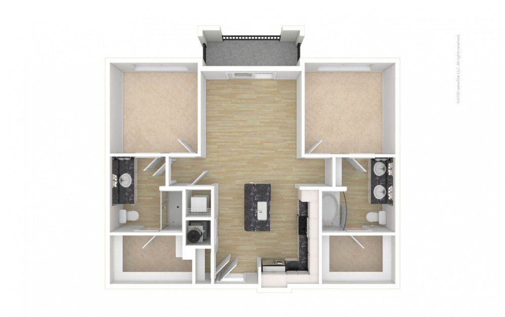 Highland 2 bedroom 2 bath 1022 square feet (1)