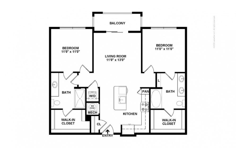 Highland 2 bedroom 2 bath 1022 square feet (2)