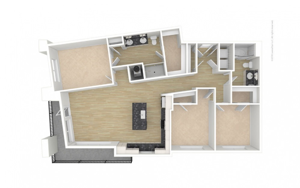 Trinity 3 bedroom 2 bath 1375 square feet (1)