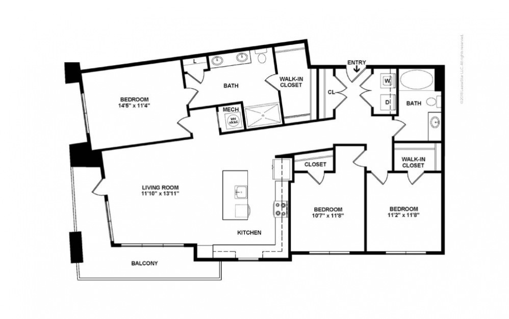 Trinity 3 bedroom 2 bath 1375 square feet (2)