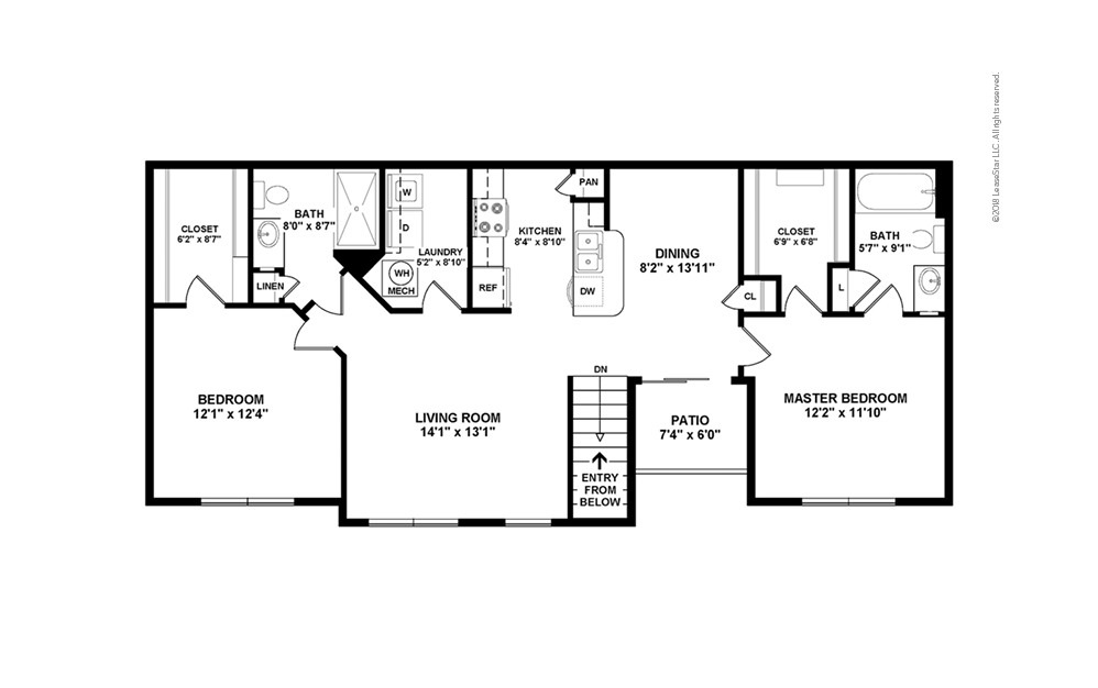 B2 2 bedroom 2 bath 1179 square feet (2)