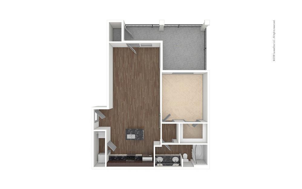 A4 1 bedroom 1 bath 802 square feet (1)