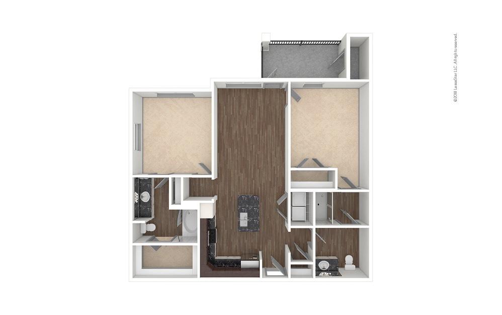 B1 2 bedroom 2 bath 1071 square feet (1)