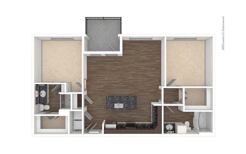 B4 2 bedroom 2 bath 1125 square feet (1)
