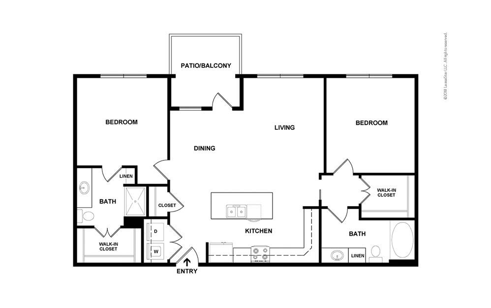 B4 2 bedroom 2 bath 1125 square feet (2)