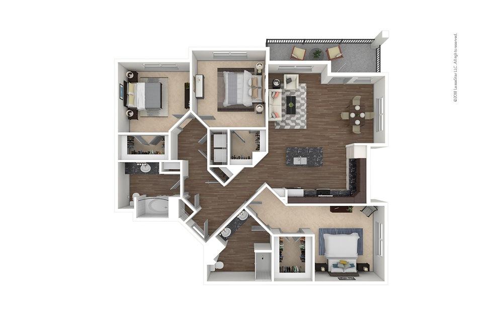 C2 3 bedroom 2 bath 1540 square feet