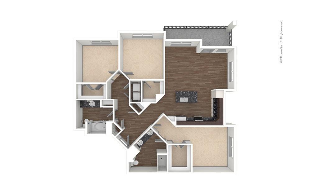 C2 3 bedroom 2 bath 1540 square feet (1)