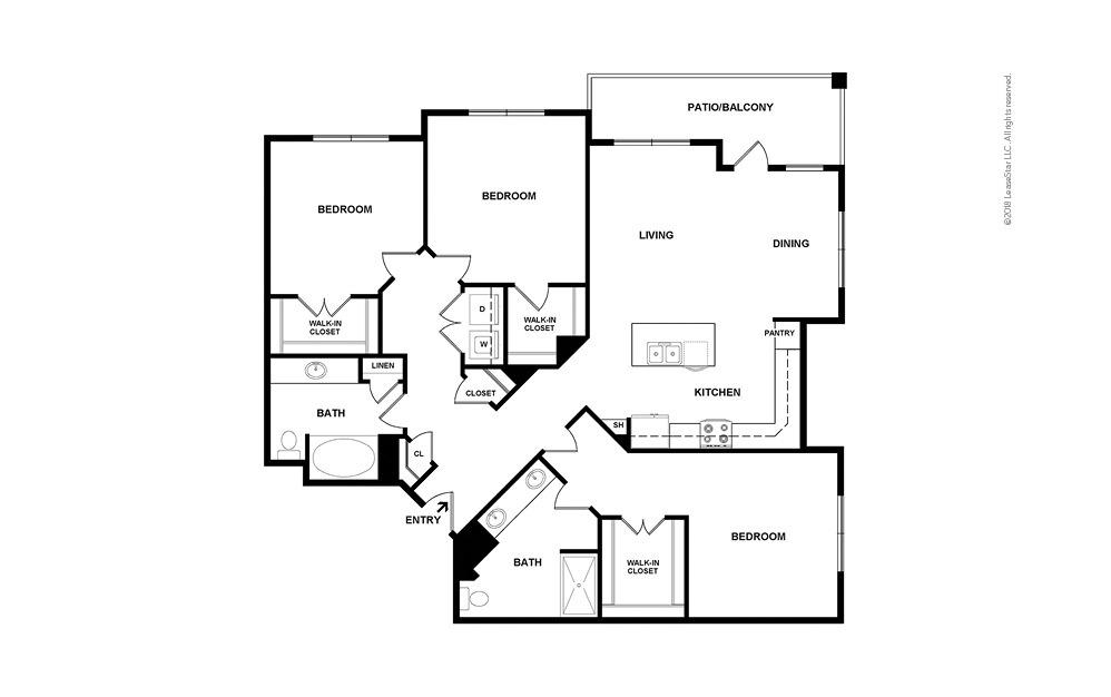 C2 3 bedroom 2 bath 1540 square feet (2)