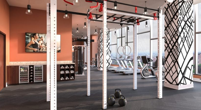 Fitness center at apartments for rent in Birmingham, AL