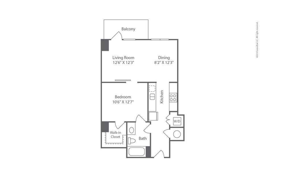 Highrise A7 1 bedroom 1 bath 723 square feet (1)