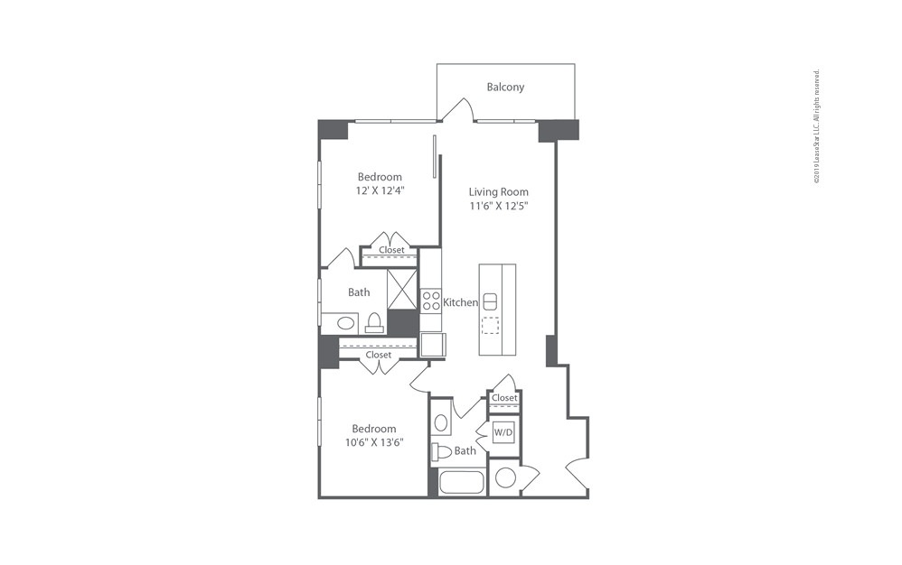 Highrise B5 2 bedroom 2 bath 1021 square feet (1)