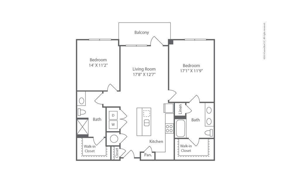 Midrise B11 2 bedroom 2 bath 1165 square feet (1)