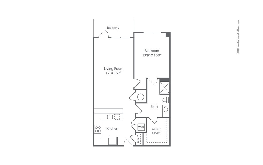 Midrise A18 1 bedroom 1 bath 856 square feet (1)