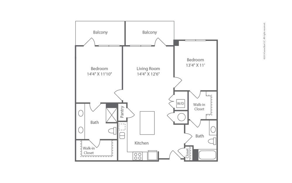 Midrise B10 2 bedroom 2 bath 1158 square feet (1)