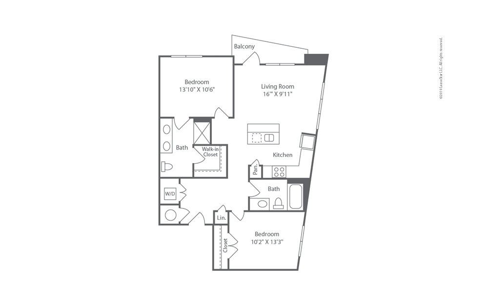 Midrise B7 2 bedroom 2 bath 1064 square feet (1)