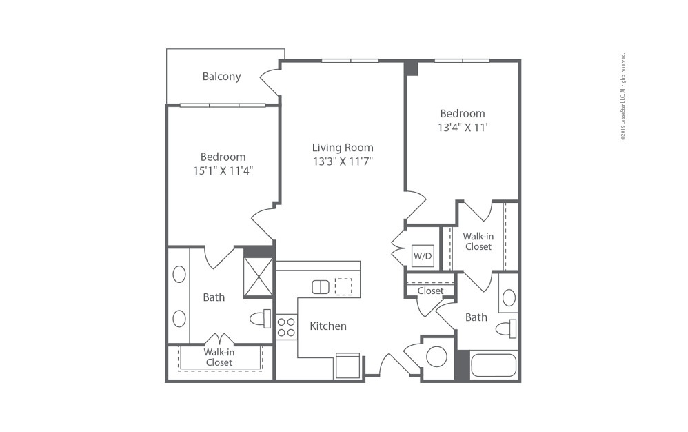 Midrise B9 2 bedroom 2 bath 1098 square feet (1)