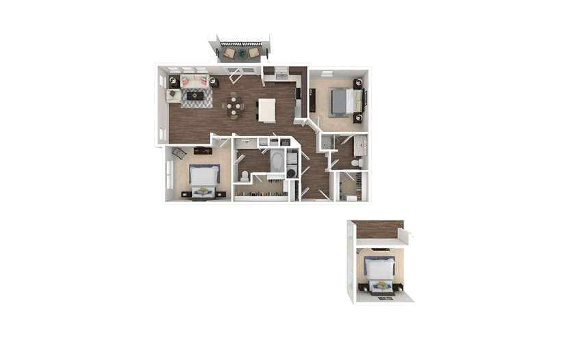 B10/B13 2 bedroom 2 bath 1172 - 1189 square feet