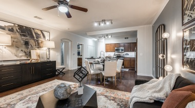 Spacious floor plan at apartments in Farmers Branch, TX
