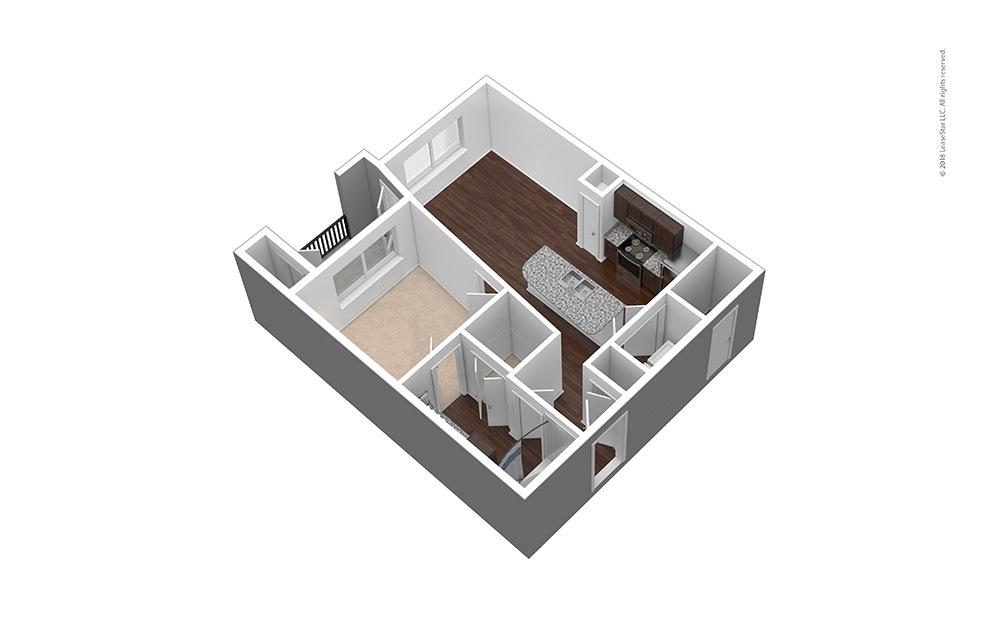 A1 1 bed 1 bath 613 Sq. Ft.