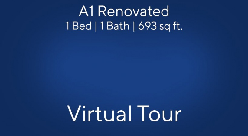 A1 Renovated Virtual Tour | 1 Bed/1 Bath