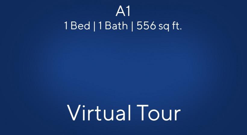 A1 Virtual Tour Floor Plan, 1bed/1bath, 556 sq. ft.