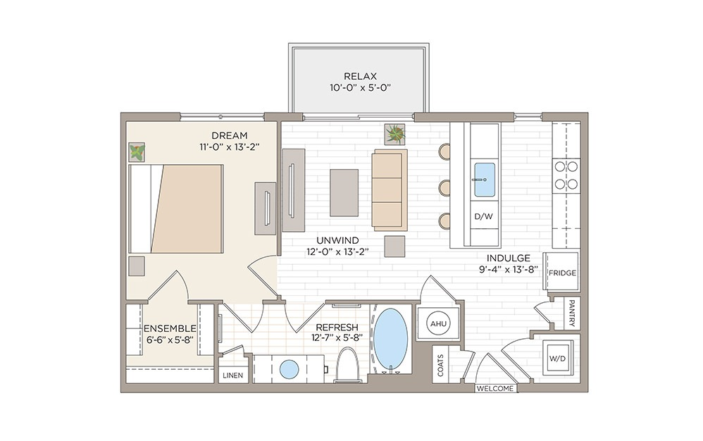 Cherokee 1 bedroom 1 bath 667 square feet