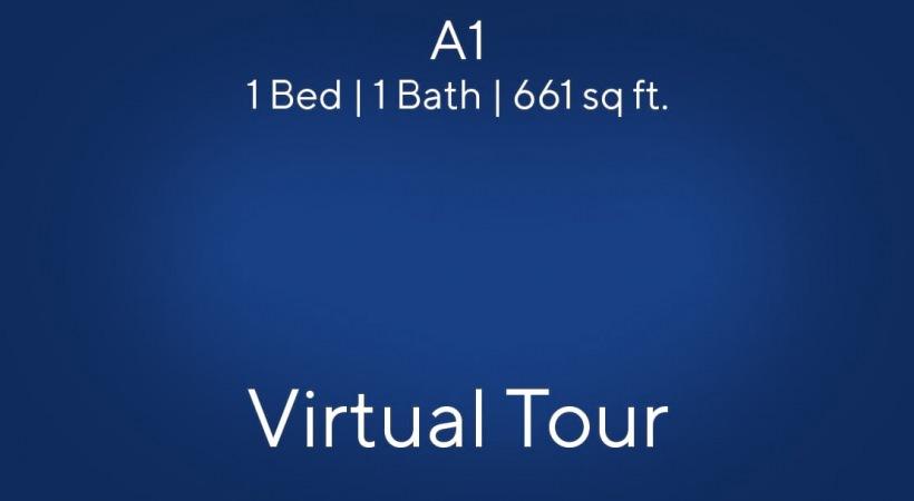 A1 Floor Plan Virtual Tour | 1 Bed/1 Bath