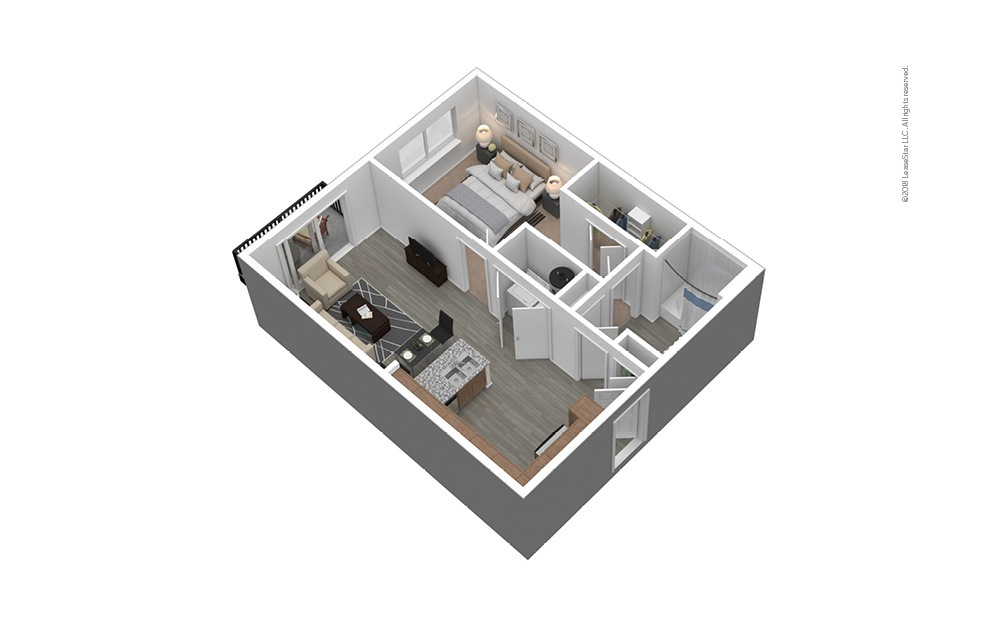 A1 Furnished 3D Floor Plan