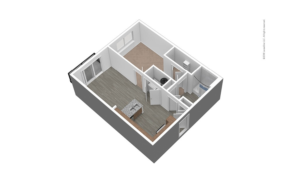 A1 Unfurnished 3D Floor Plan