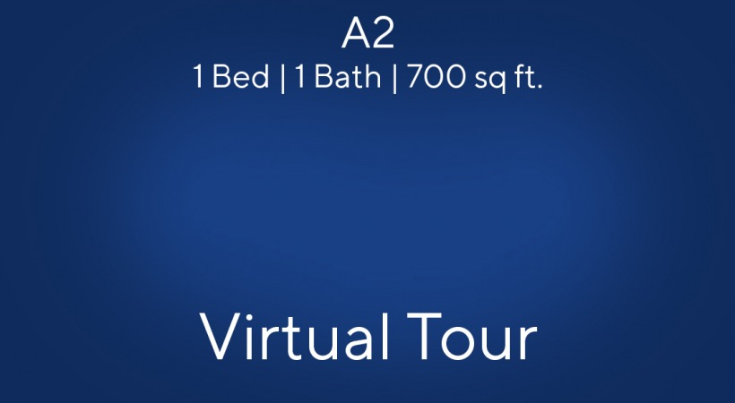 A2 Floor Plan, 1bed/1bath, 700 sq. ft.