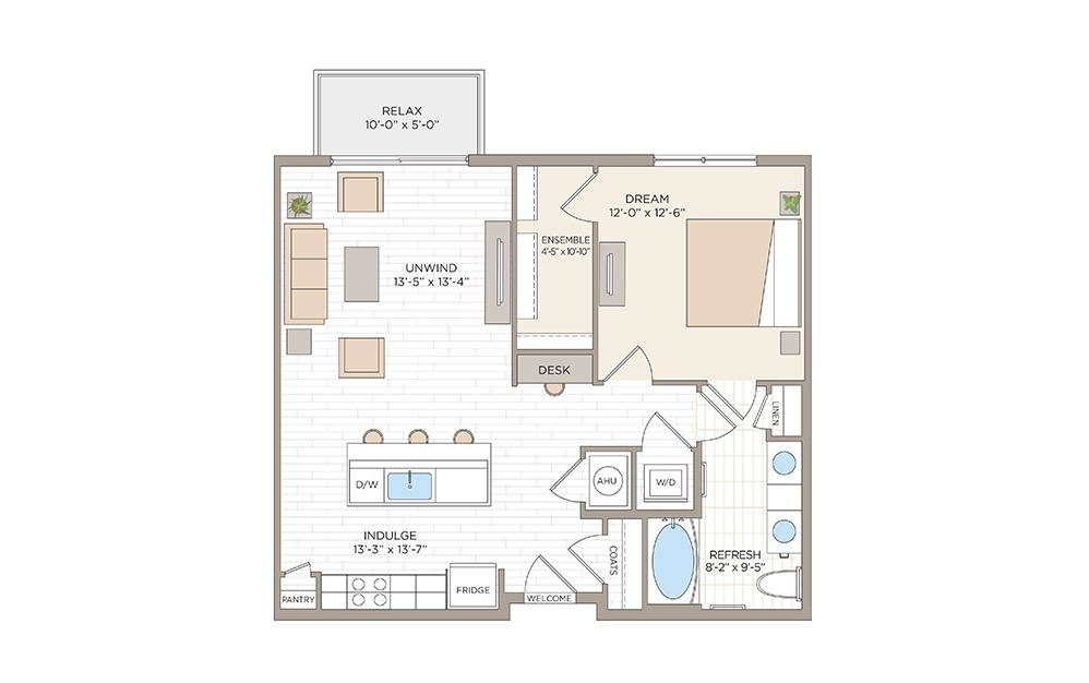 Holden 1 bedroom 1 bath 835 square feet