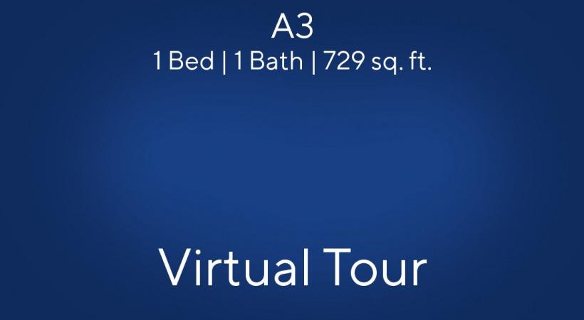 A3 1 Bed | 1 Bath | 729 sq. ft.