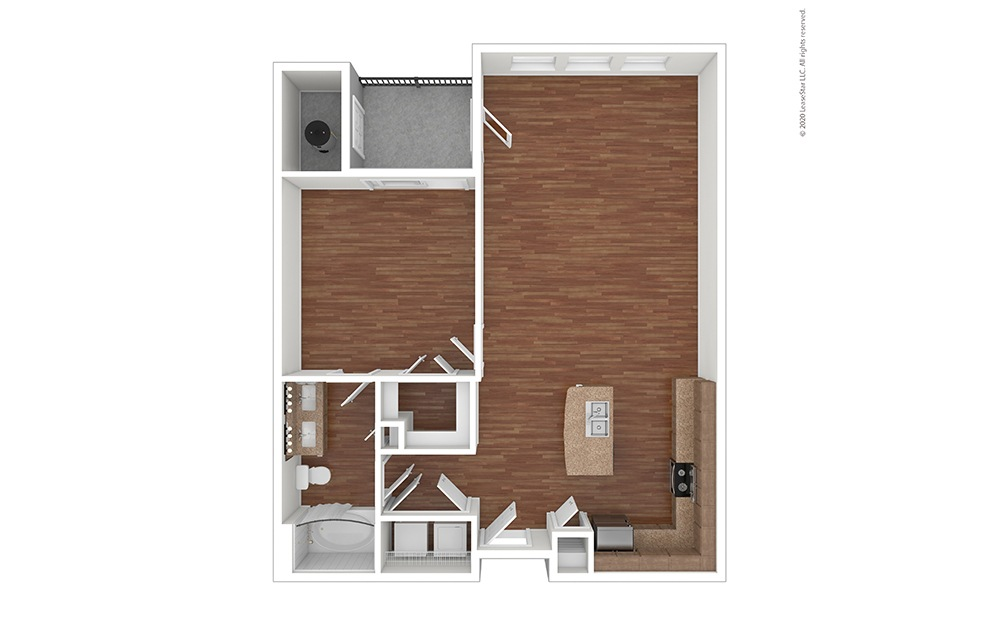 A4 Floor Plan Vacant