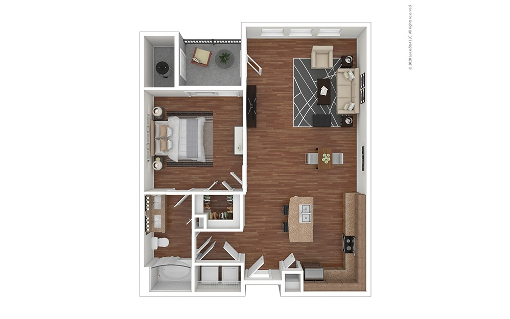 A4 Floor Plan with Furniture
