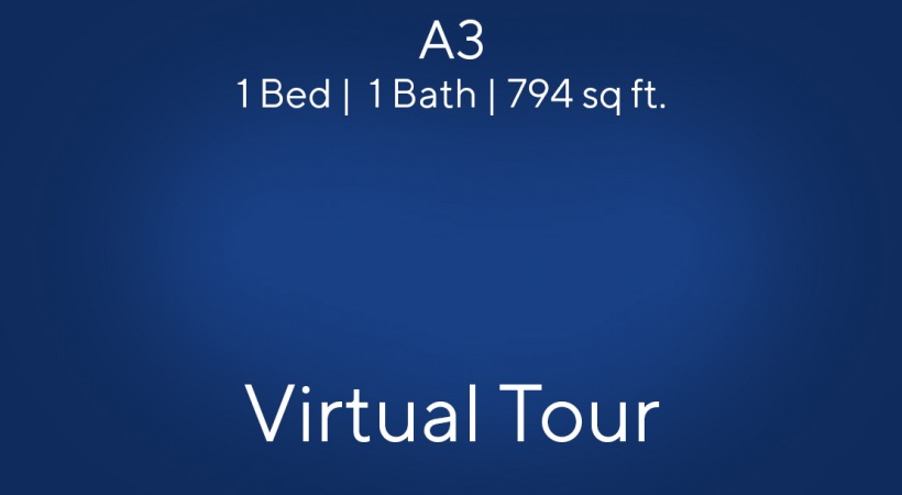 Virtual apartment tour of our 1 bedroom apartments near Lake Travis