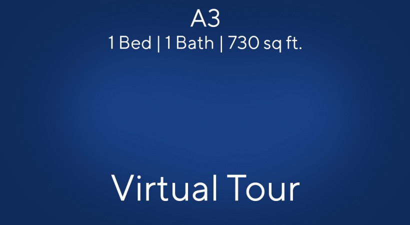A3 Floor Plan Virtual Tour | 1 Bed/1 Bath