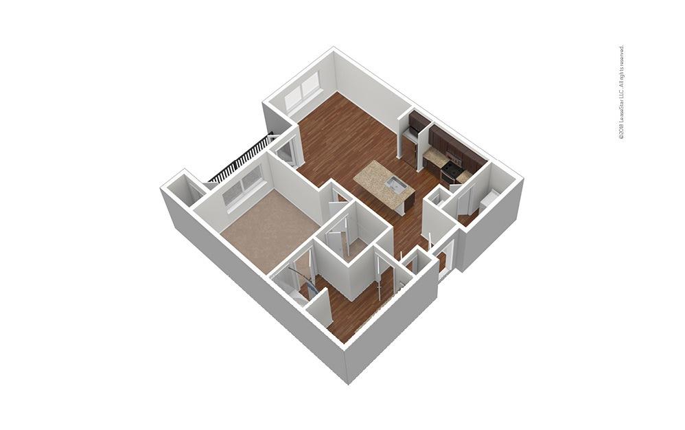 Frisco Square - Renovated 1 bedroom 1 bath 720 square feet (1)