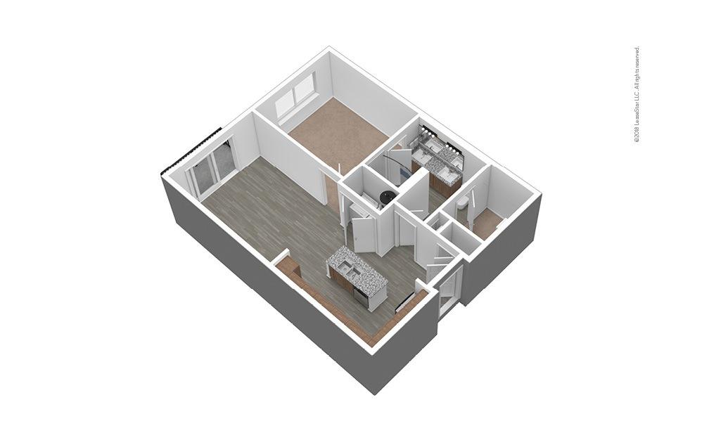 A3 Unfurnished 3D Floor Plan