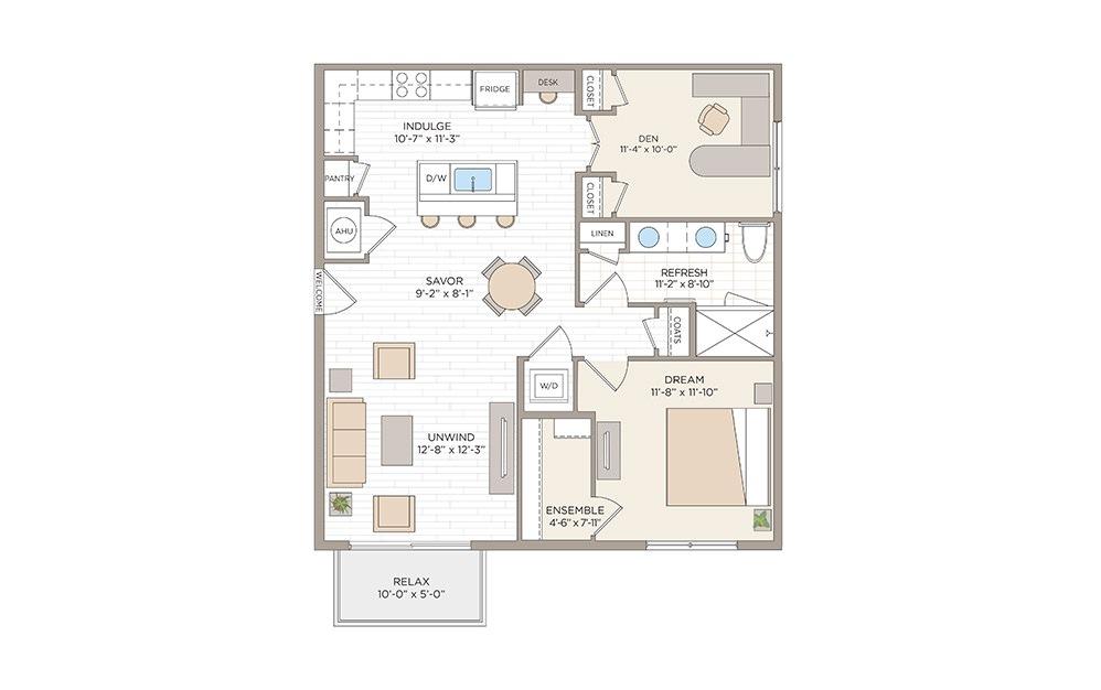 Jackson 1 bedroom 1 bath 982 square feet