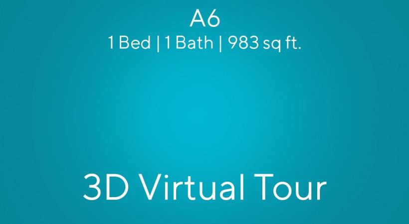 A6 Virtual Tour | 1 Bed/ 1 Bath
