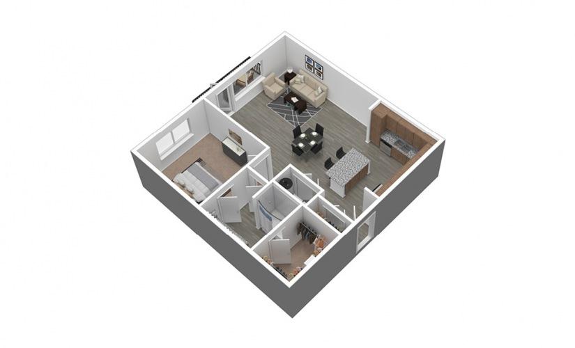 A6 Listing 3D Floor Plan