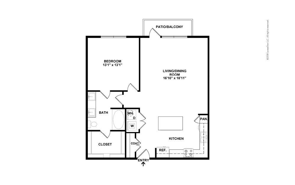 A6 2D Floor Plan