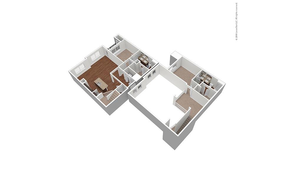 Unfurnished B4 Floor Plan Rendering