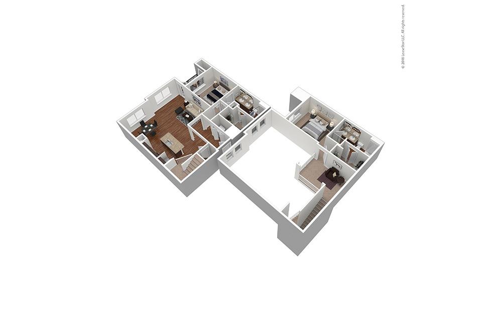 Furnished B4 Floor Plan Rendering