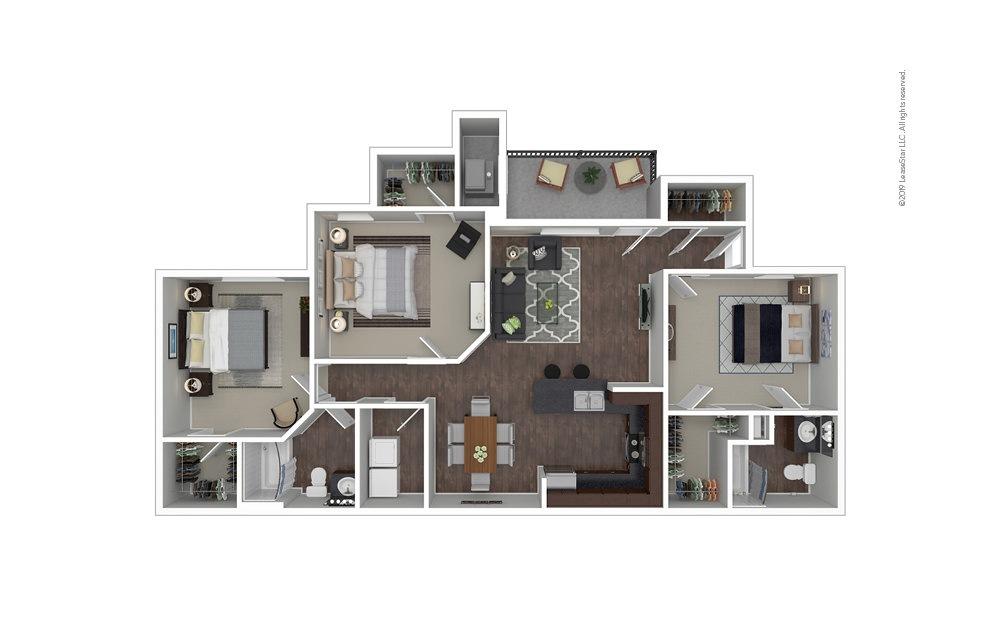 The Amsterdam 3 bedroom 2 bath 1467 square feet