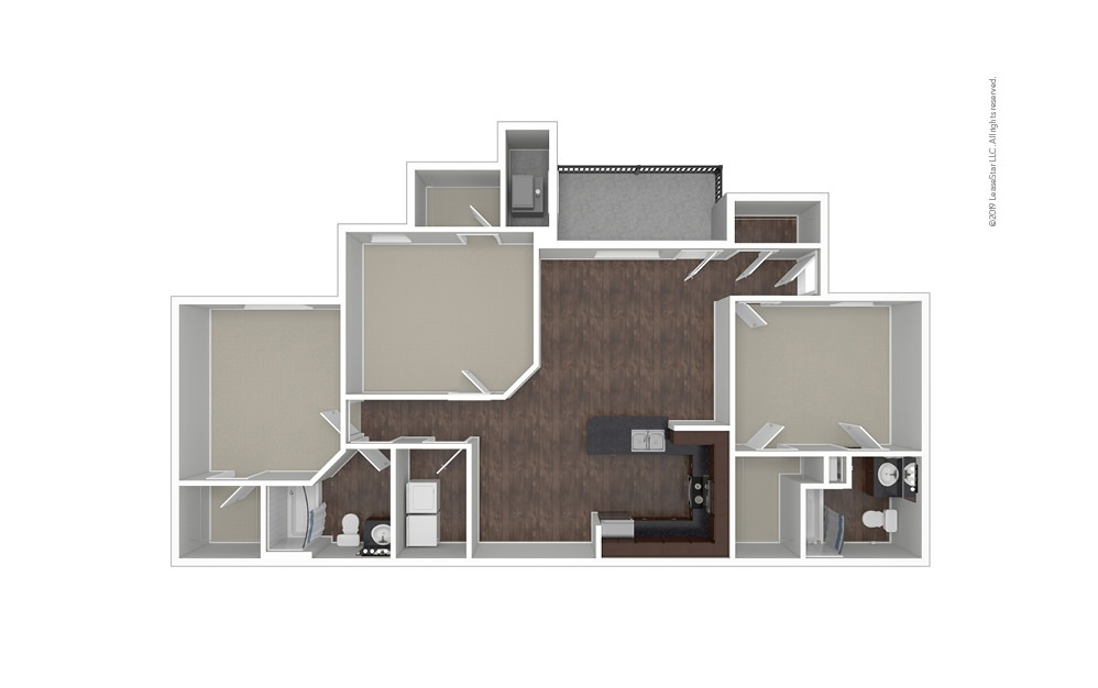 The Amsterdam 3 bedroom 2 bath 1467 square feet (1)