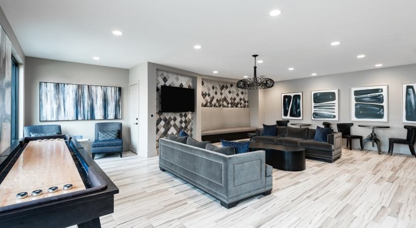 Resident clubhouse at apartments for rent in Fort Worth, TX