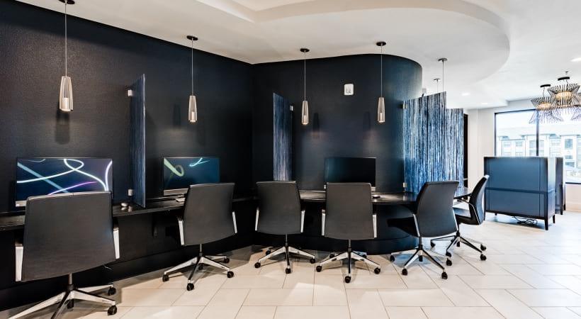 Apartment business center at Cortland Presidio West