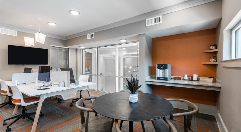 Business center with WiFi at our Craig Ranch apartments