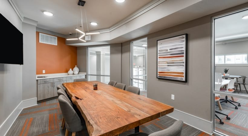 Conference room at our apartments near Frisco, TX